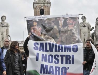 Campidoglio, protesta contro la rimozione del banner a sostegno dei Maro'