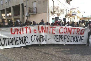 Protesta degli immigrati a San Ferdinando