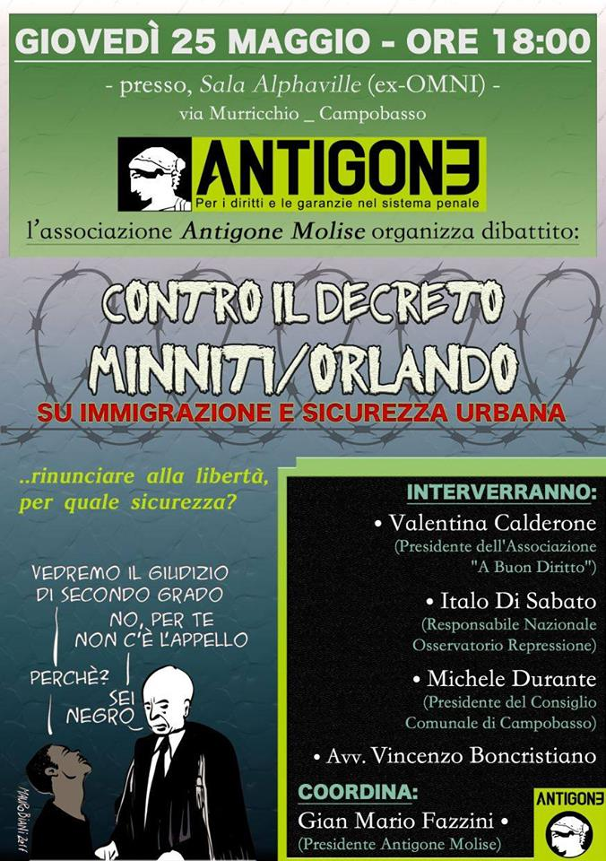 antigone - iniziativa cb 25 maggio