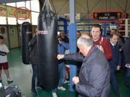 Il capo della polizia Gabrielli in visita all'Exelsior Boxe AXPO di Marcianise
