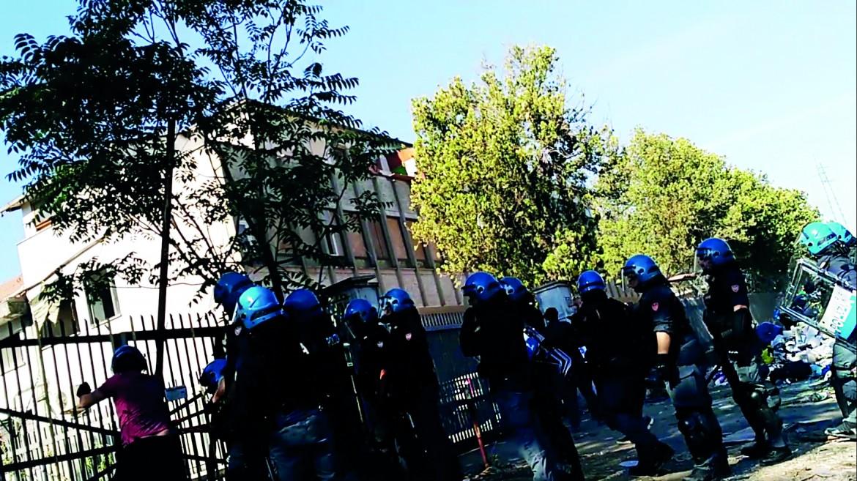 roma sgombero migranti