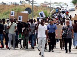 rosarno migranti protesta