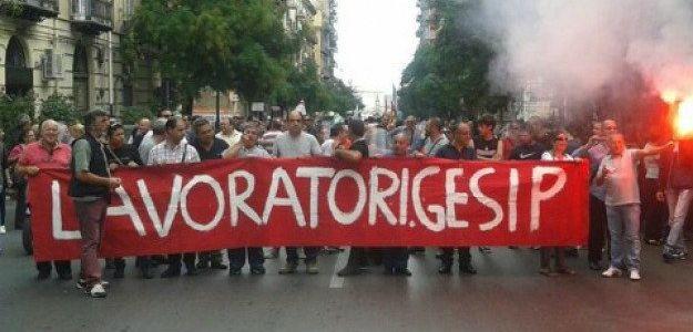 Palermo lavoratori Gesip-