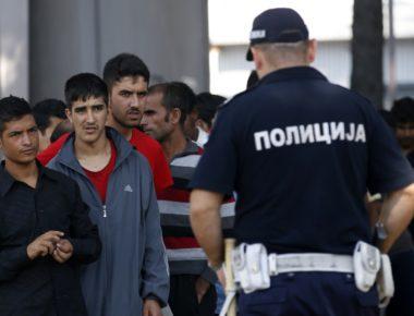 polizia serba - migranti
