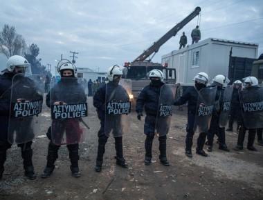 polizia macedone