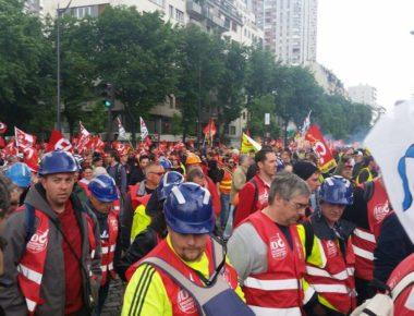 Partenza manifestazione nazionale contro la loi travail, Parigi