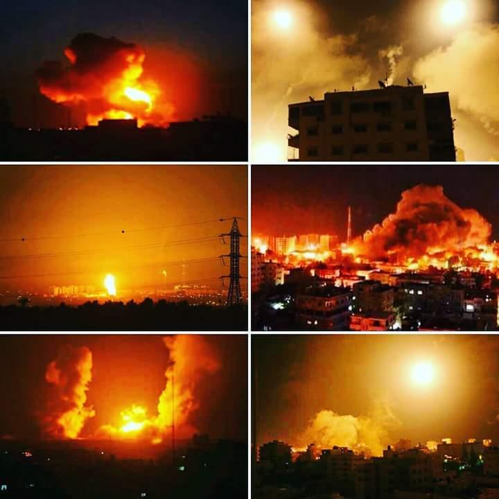 palestina bombardamenti su gaza