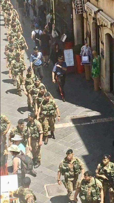 Taormina:militarizzazione del territorio in vista del G7