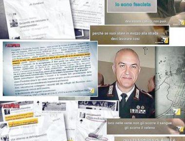 Il carabiniere Alessandro Fiorentino, indagato, e alcuni sms
