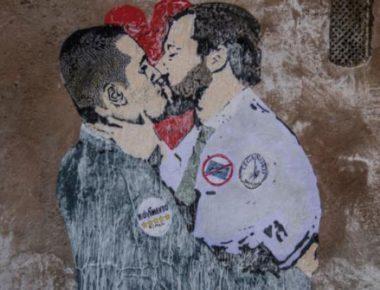 di maio-salvini murales
