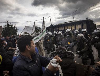 Protest of Moria refugees