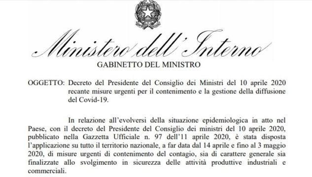 ministero interno covid-19