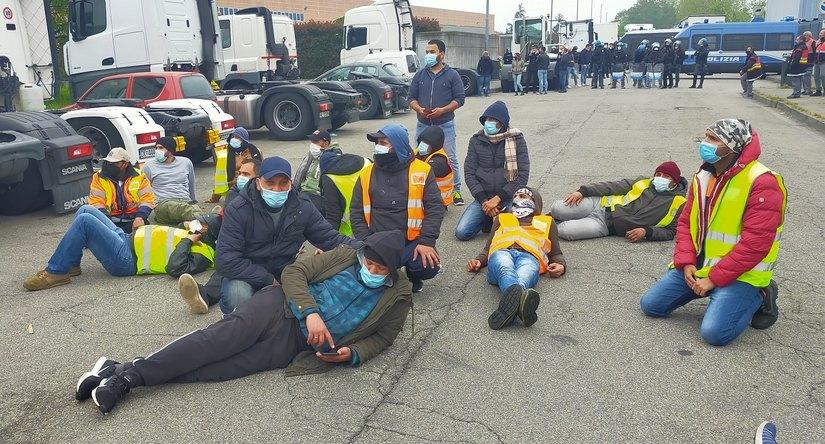 peschiera borromeo sciopero lavoratori logistica