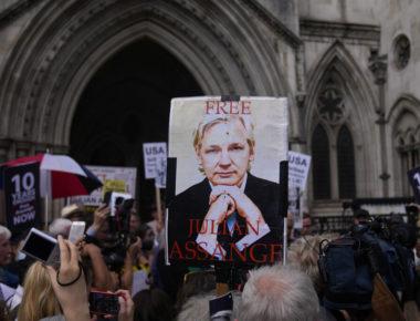 Manifestazione per la liberazione di Julian Assange © Ap